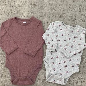3-6 months long sleeve body suit